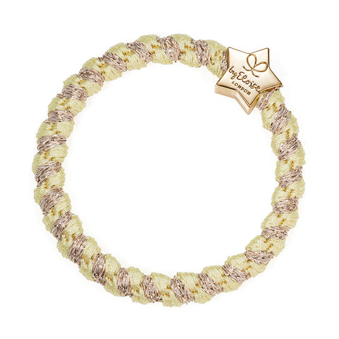 Woven Bangle Band - Lemonade, Gold Star