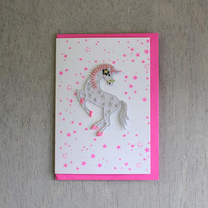 Unicorn Iron-on Patch Card