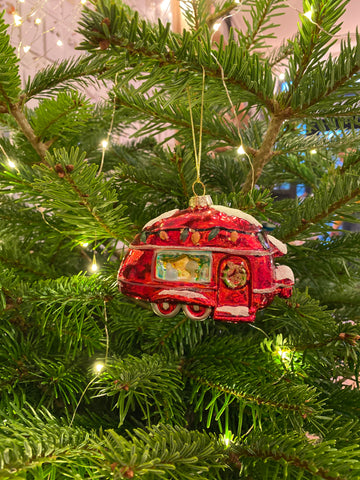 Vintage Red Airstream Decoration