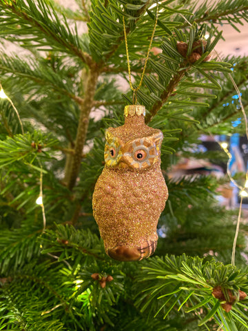 Glitter Owl Decoration