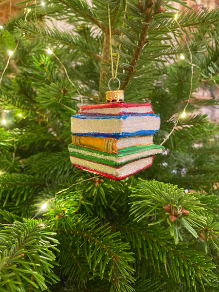 Stack of Books Christmas decoration