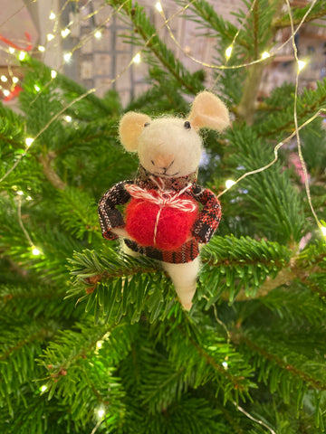 Standing Felt Mouse Decoration