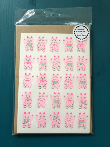 Writing Paper Set - Lucky Cats and Pandas