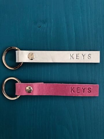 Keys Leather Keyring
