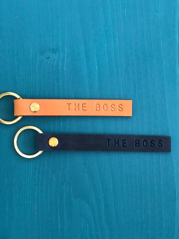 The Boss Leather Keyring