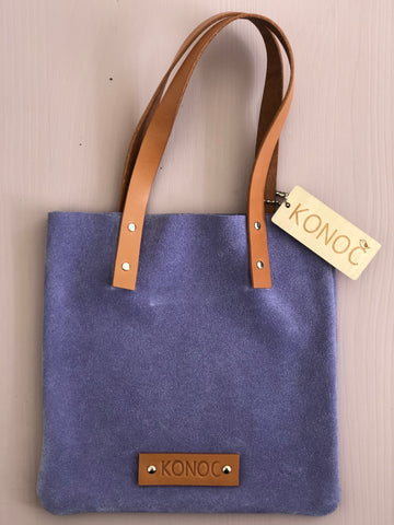 Konoc Suede Bag - Lilac & Tan