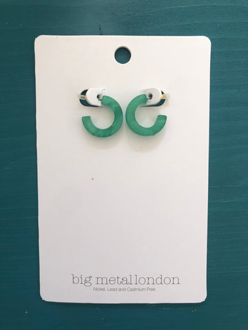 Petra Small Hoop Earrings (Jade Green)