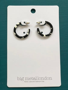 Ava Tiny Resin Hoop Earrings