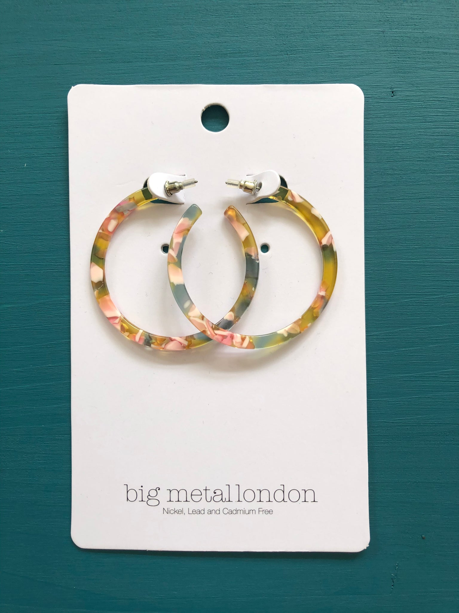 Galla Large Resin Hoop Earrings