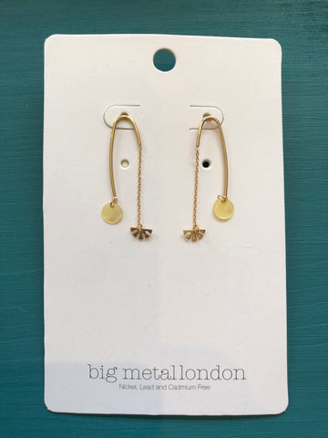 Bernadette Brass Shell Earrings