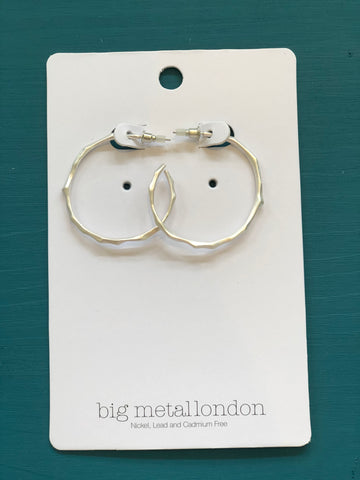 Valeria Branch Hoop Earrings - Silver