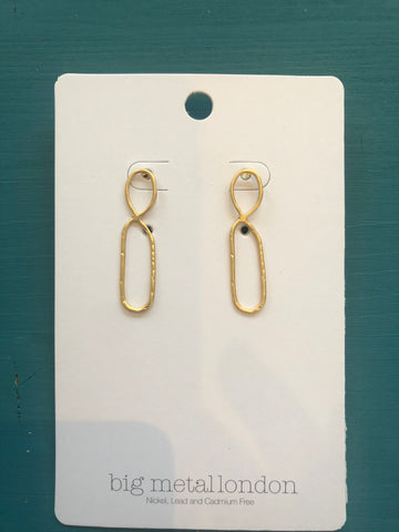 Valeria Organic Infinity Shaped Earrings - Gold
