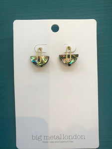 Cressida Shell Half-Disc Earrings