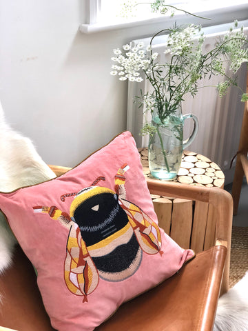 Pink Bee Cushions