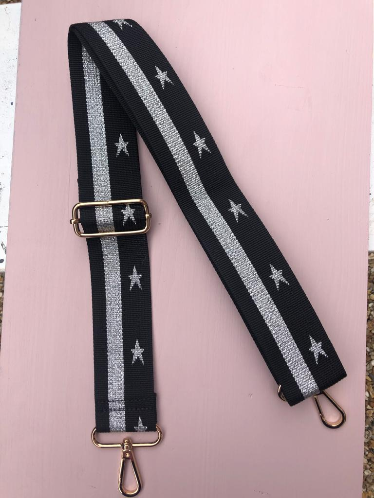 Black Starry Bag Strap
