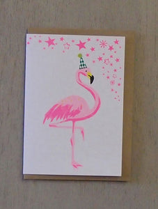 Flamingo Confetti Pet Card