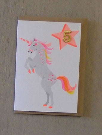 Unicorn Confetti Pet Card