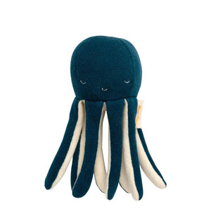 Blue Octopus Baby Rattle