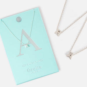 Orelia Letter Necklace - Silver