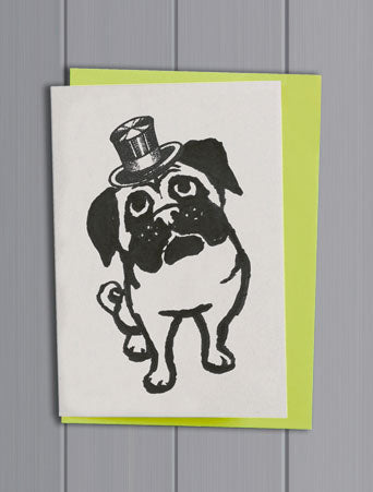 Pug Quirky Pet Card