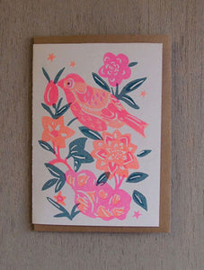 Bird - Riso Papercut Card