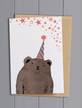 Bear Confetti Pet Card