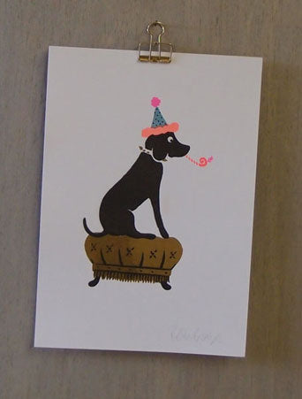 Party Dog Risograph Print