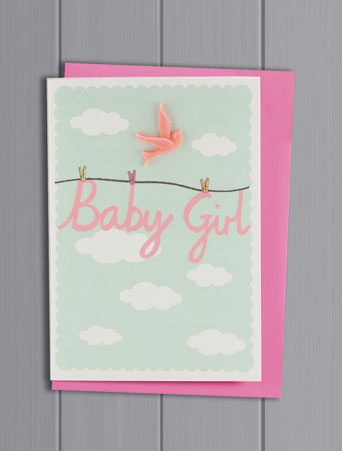 Baby Girl Resin Card