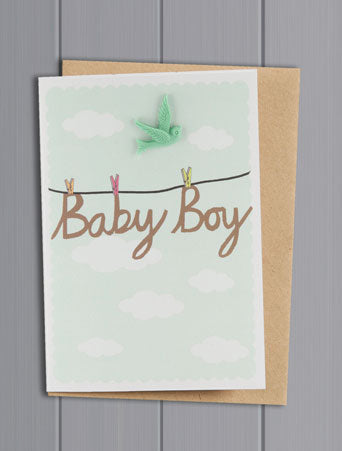 Baby Boy Resin Card