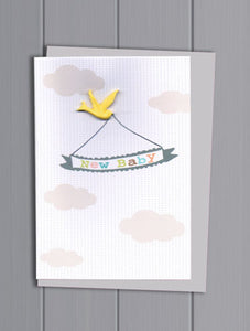 New Baby Resin Card