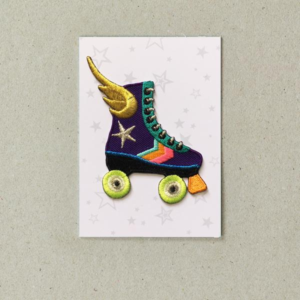 Rollerskate Iron-on Patch