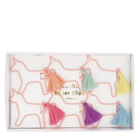 Unicorn Tassel Paperclips