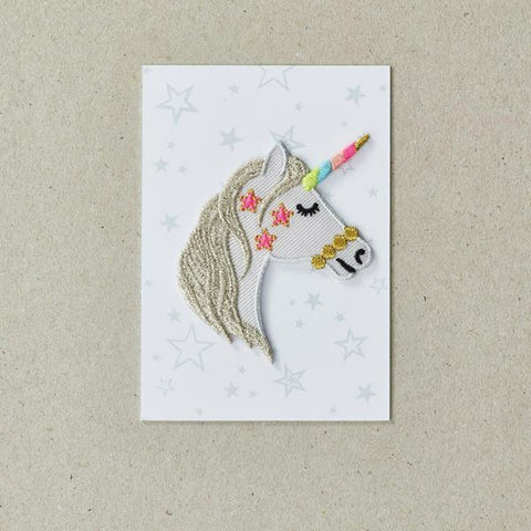Unicorn Head Iron-on Patch