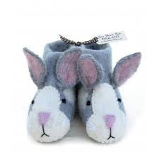 Rory Rabbit - Children's Felt Slippers