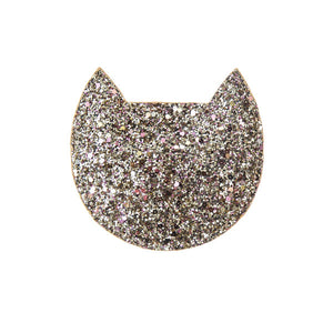 Gold Cat Glitter Purse