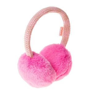 Pink Two-Tone Knit Earmuffs