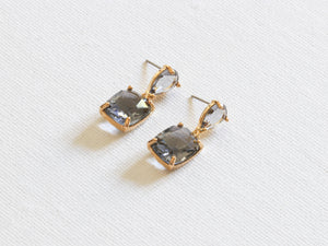 Anais Allure Stone Cut Earrings Grey/Blue
