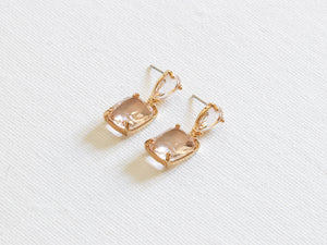 Anais Allure Stone Cut Luxe Earrings Pink