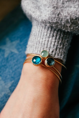 Stacking Bangle Aqua