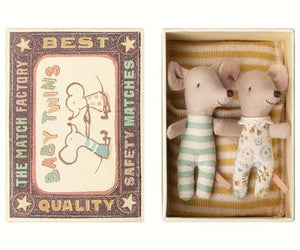 Baby Mice Twins in Matchbox