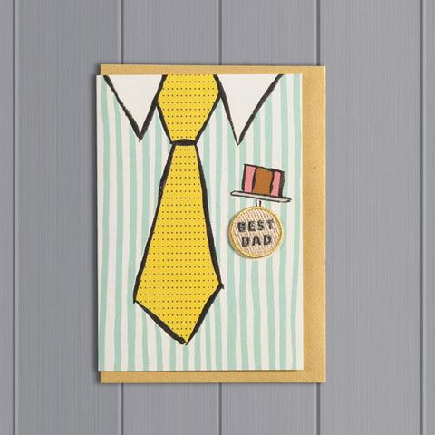 Best Dad Shirt and Tie Card
