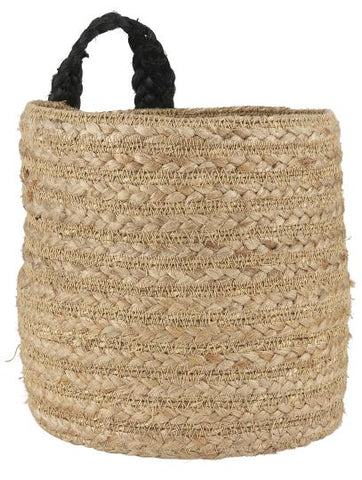 Natural Basket with Black Strap