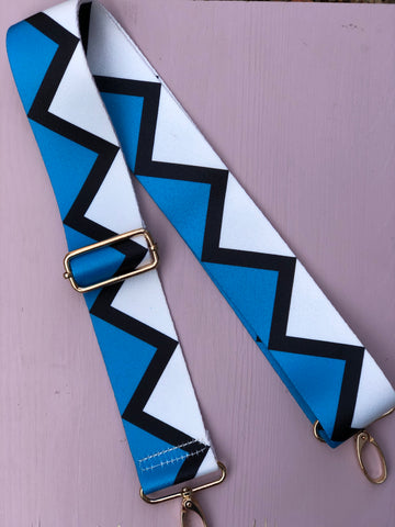 Blue Zigzag Bag Straps