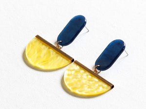 Liviana Two Tone Cut Out Resin Earrings