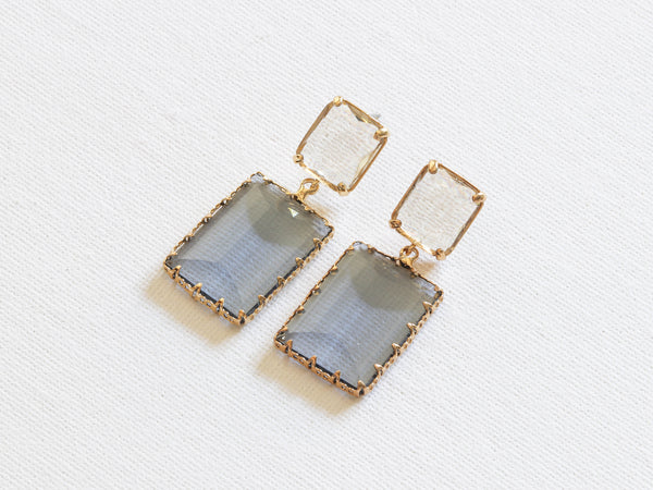 Cosette Allure Stone Cut Earrings Blue