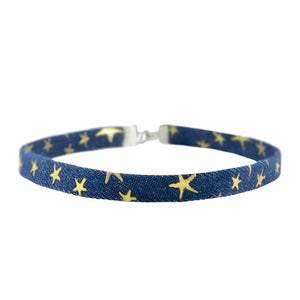 Denim Star Choker