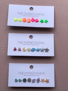 Diana Resin Earrings Pack of 4