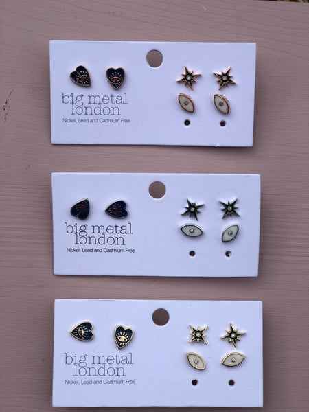 Perdita Charm Earring Pack of 3