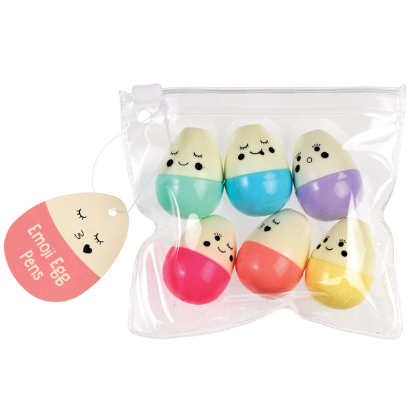 Emoji Egg Pens Pack of Six