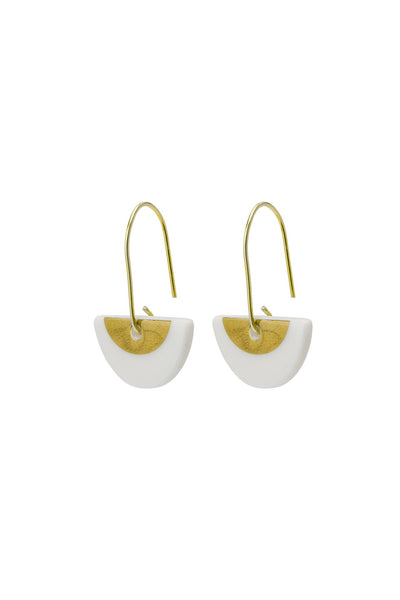 Porcelain Gold Ora Earrings